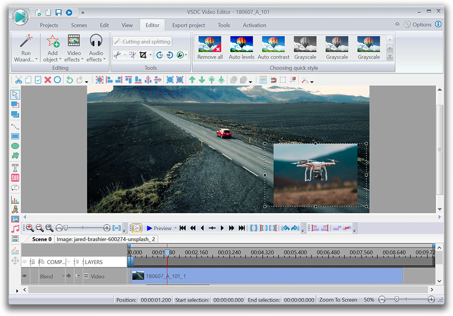VSDC - free video editor for drone owners